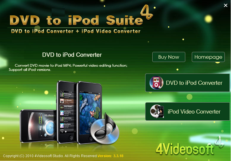 4Videosoft DVD to iPod Suite screenshot
