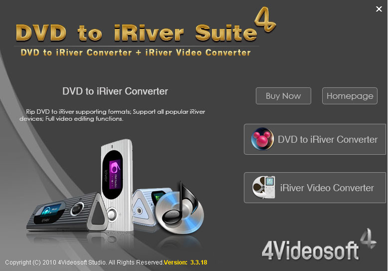 4Videosoft DVD to iRiver Suite 3.3.08