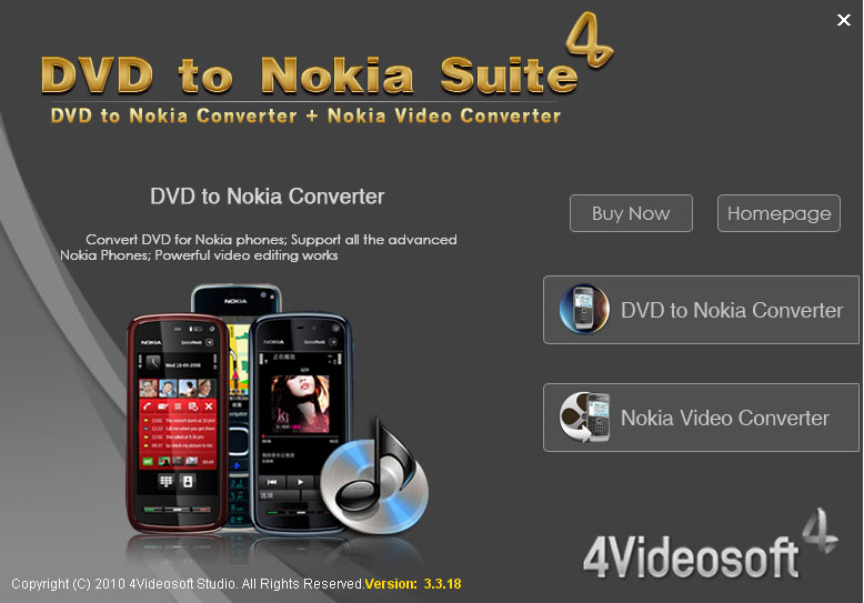 Click to view 4Videosoft DVD to Nokia Suite screenshots