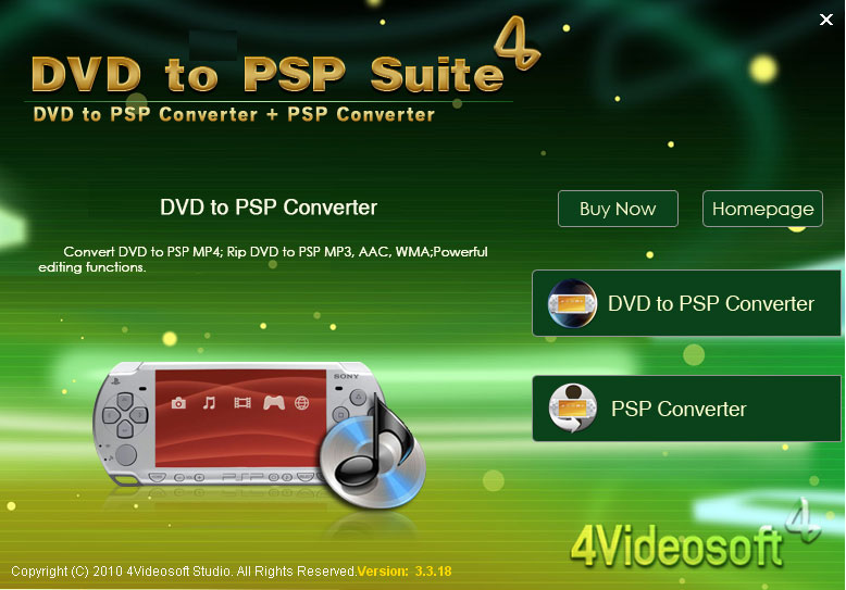 4Videosoft DVD to PSP Suite