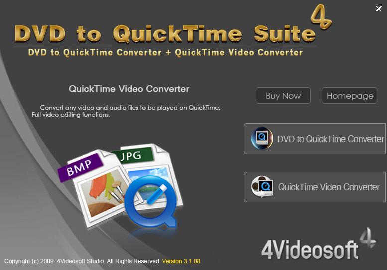 Click to view 4Videosoft DVD to QuickTime Suite screenshots