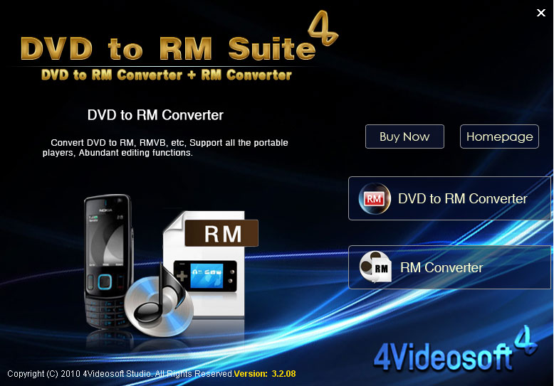 Click to view 4Videosoft DVD to RM Suite screenshots