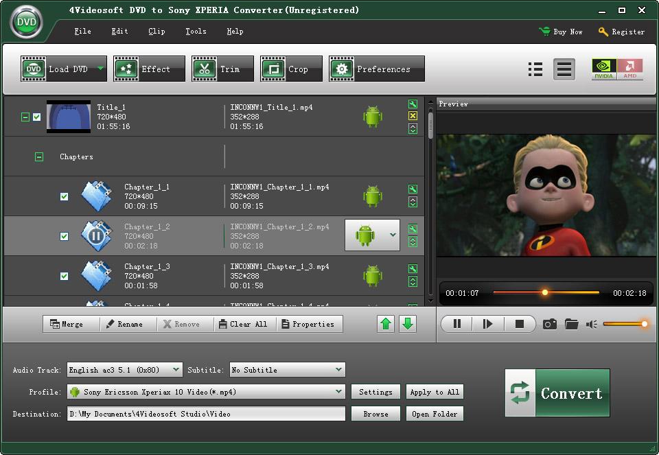 4Videosoft Sony XPERIA Video Converter 3.2.12