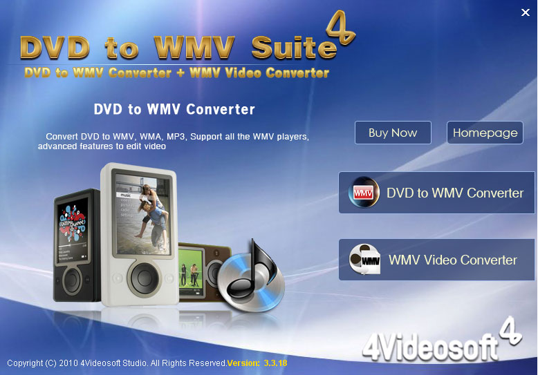 4Videosoft DVD to WMV Suite screenshot