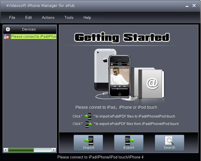4Videosoft iPhone Manager for ePub