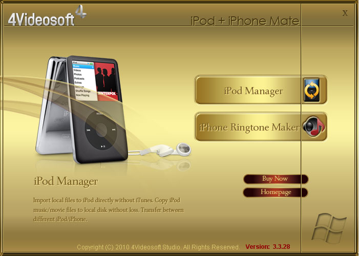 Click to view 4Videosoft iPod + iPhone Mate 3.3.38 screenshot