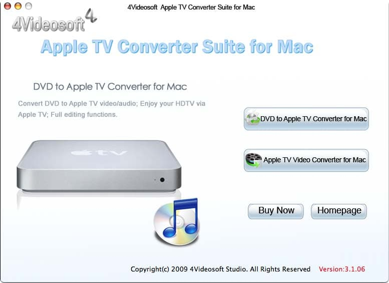 4Videosoft Mac Apple TV Converter Suite 3.2.06