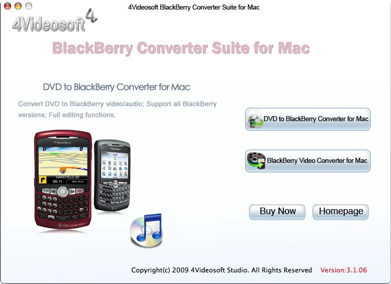 the professional BlackBerry Converter Mac