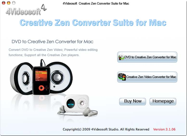 Screenshot of 4Videosoft Creative Zen Suite  for Mac