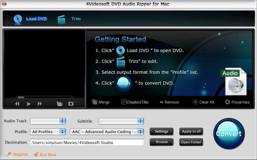 4Videosoft DVD Audio Ripper for Mac