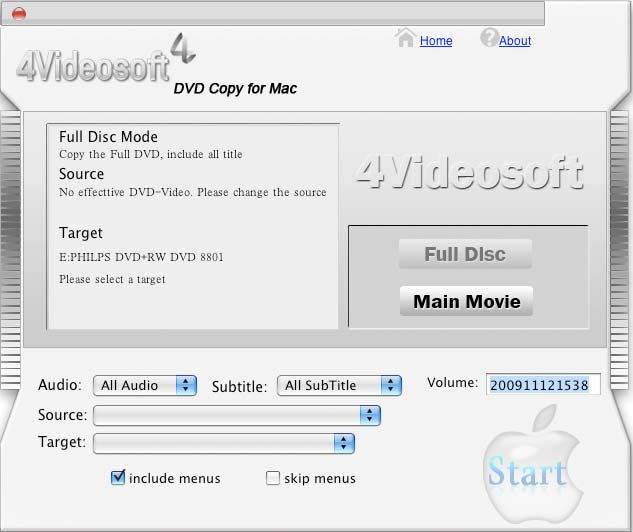 4Videosoft DVD Copy for Mac 3.1.30
