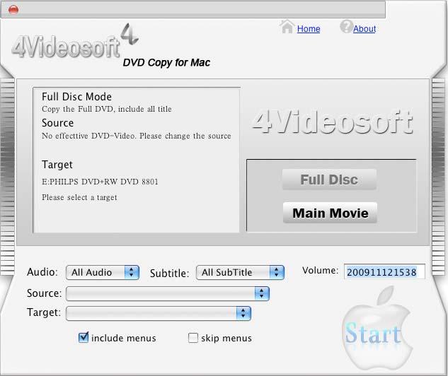4Videosoft DVD Copy for Mac 3.1.30