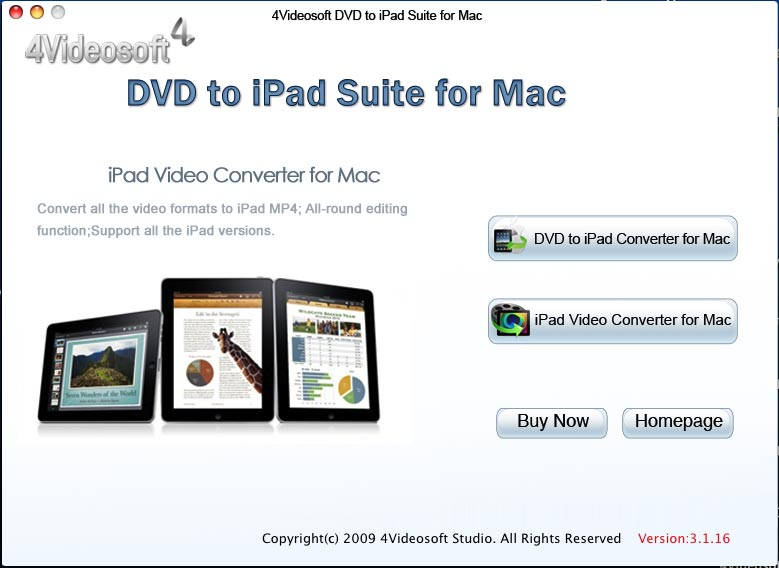 4Videosoft DVD to iPad Suite for Mac 3.2.16