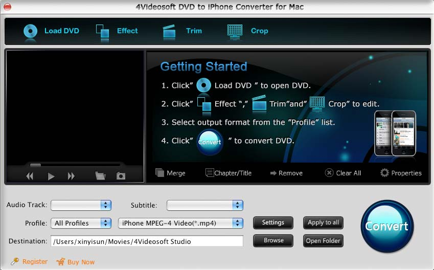 4Videosoft Mac DVD to iPhone Converter 3.1.22