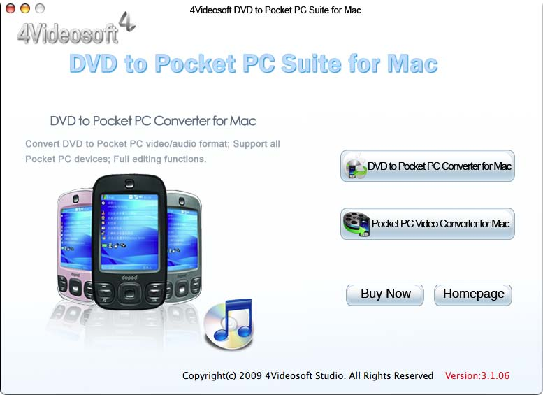 4Videosoft DVD to Pocket PC for Mac screenshot