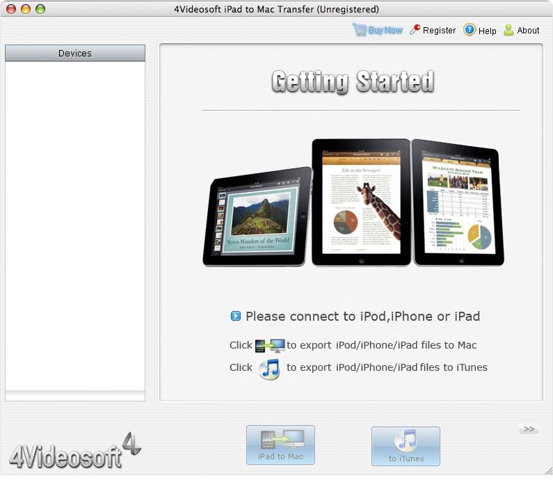 4Videosoft iPad to Mac Transfer 3.1.10