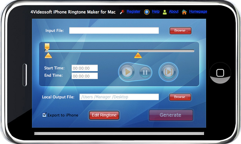 4Videosoft iPhone Ringtone Maker for Mac 3.2.22
