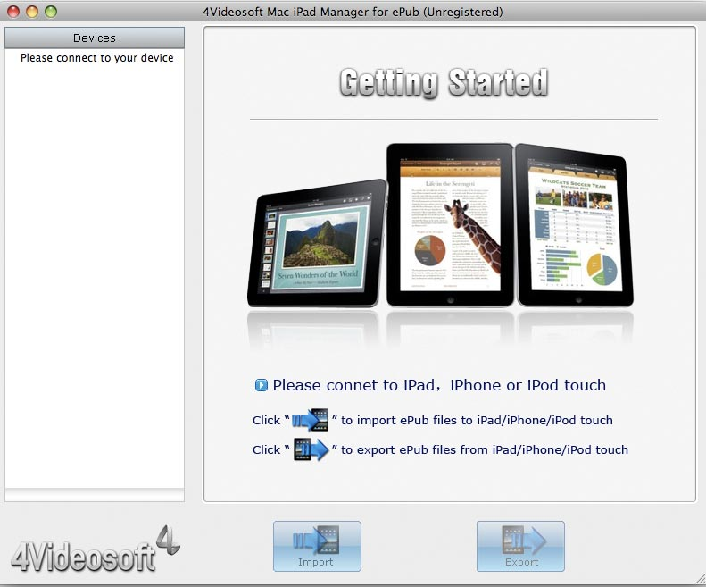 4Videosoft Mac iPad Manager for ePub