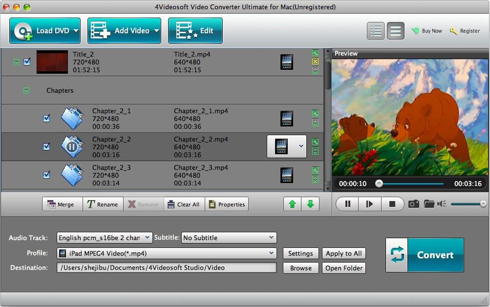 Screenshot of 4Videosoft Mac Video Converter Ultimate