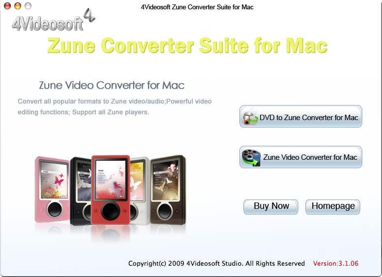 The most powerful Mac Zune Converter.