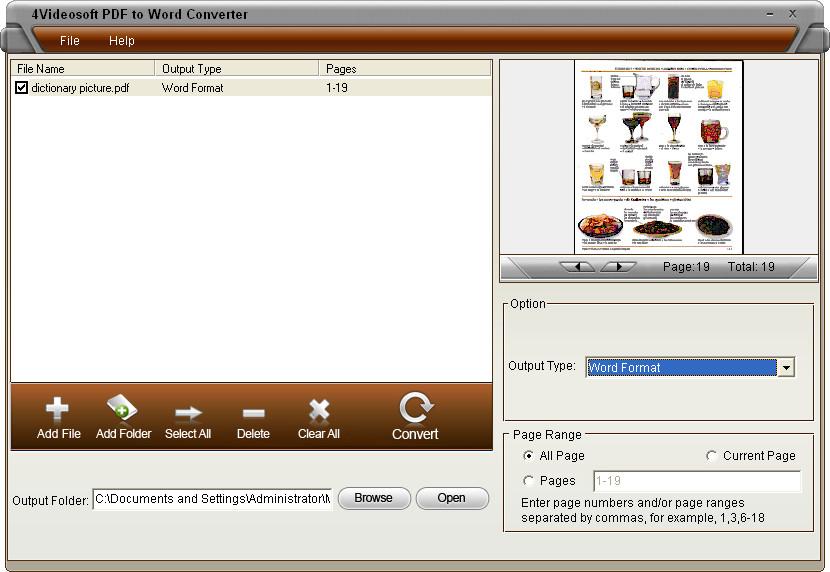 4Videosoft PDF to Word Converter 3.1.26