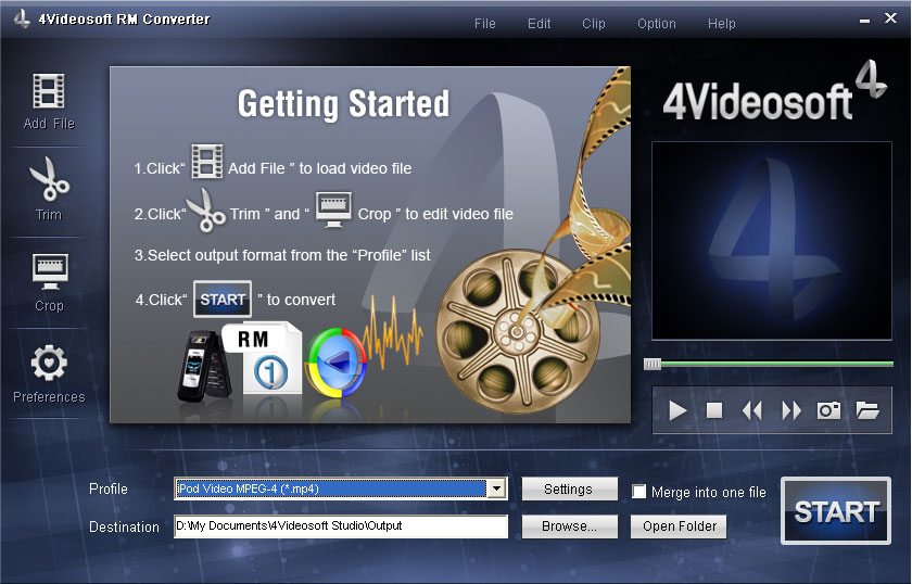 Click to view 4Videosoft RM Converter screenshots