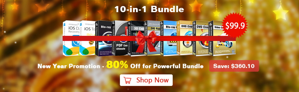 Happy New Year - Up to 80% OFF for 4Videosoft Software